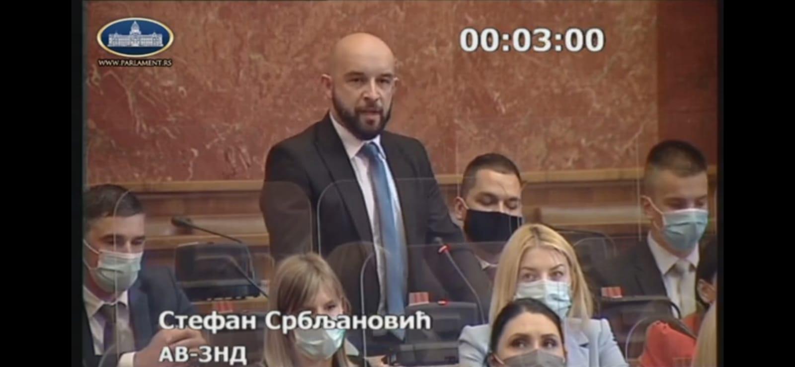 Narodni poslanik Stefan Srbljanovic